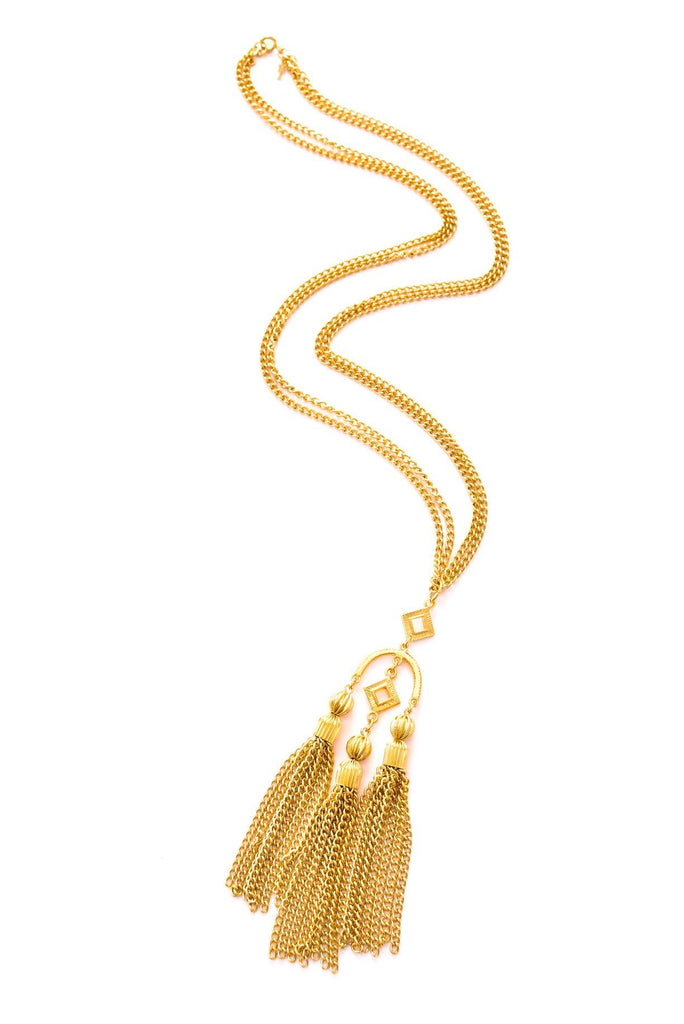 Triple Tassel Necklace