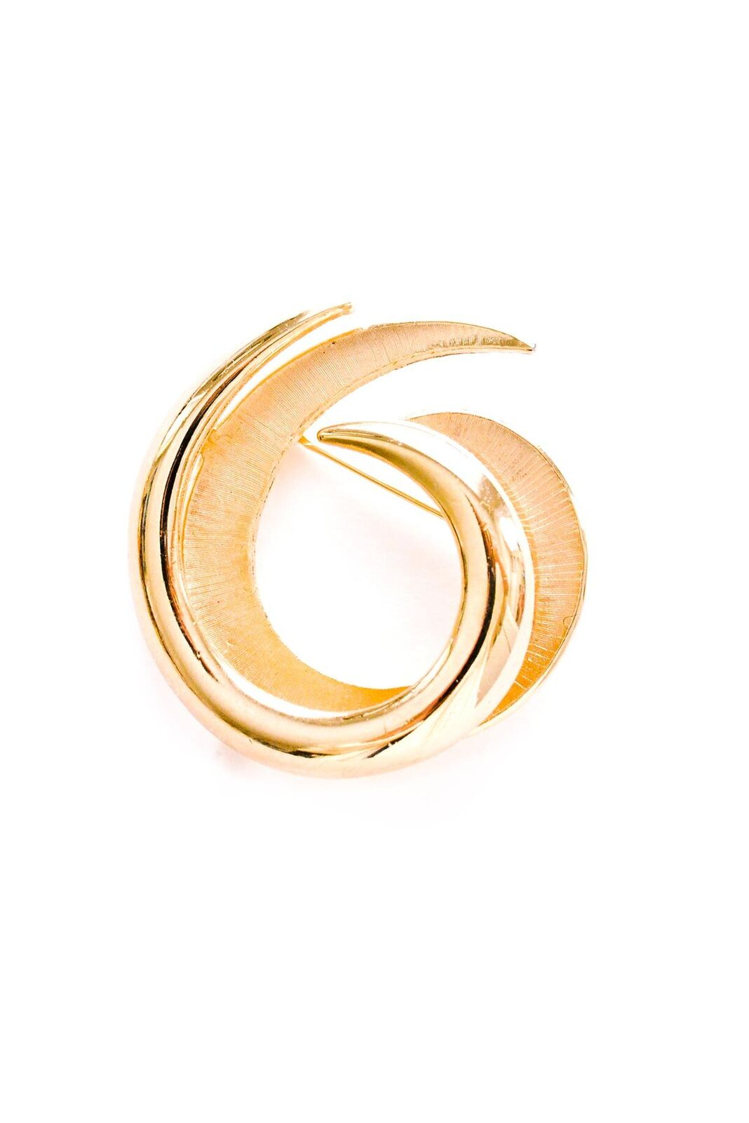 Vintage Trifari Gold Classic Swirl Brooch from Sweet & Spark