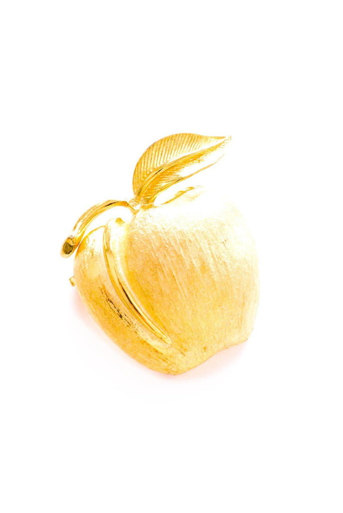 Statement Apple Brooch