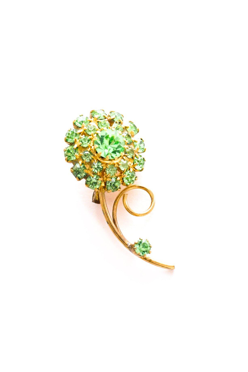 Green Floral Brooch