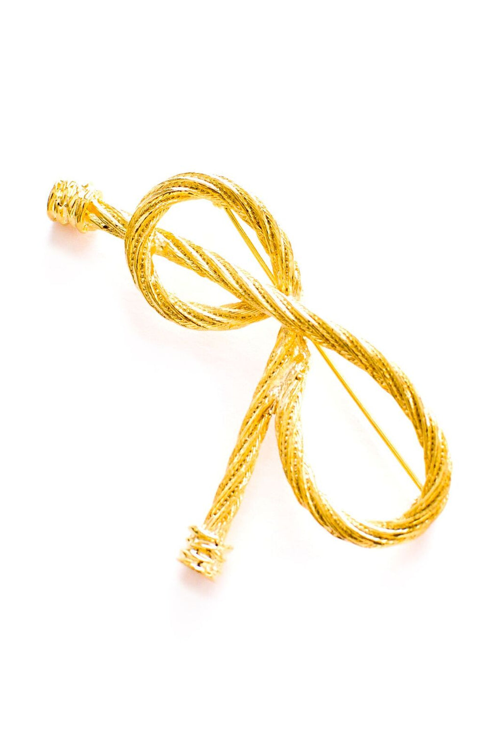 Rope Bow Brooch