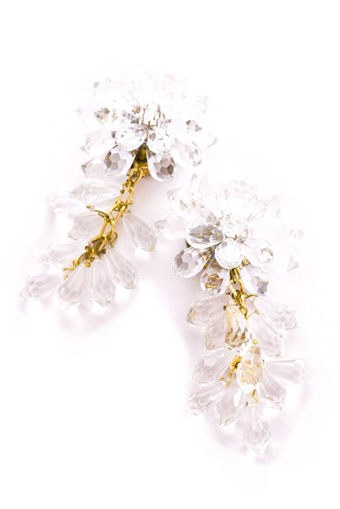 Lucite Statement Clip-on Earrings