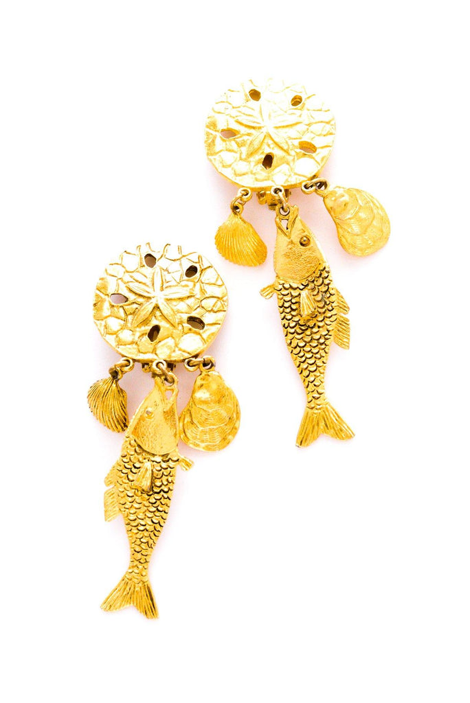 Statement Fish Clip-on Earrings