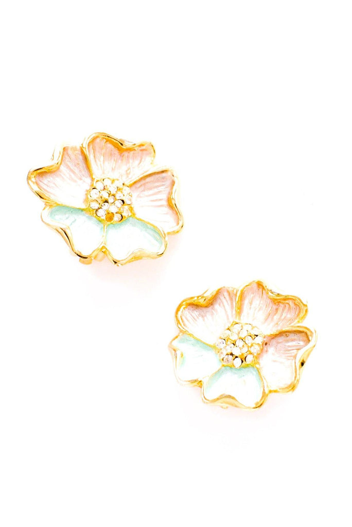 Pastel Floral Clip-on Earrings
