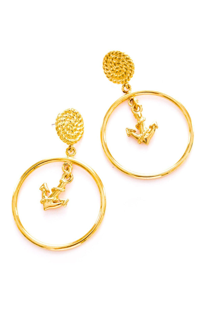 Nautical Anchor Pierced Earrings