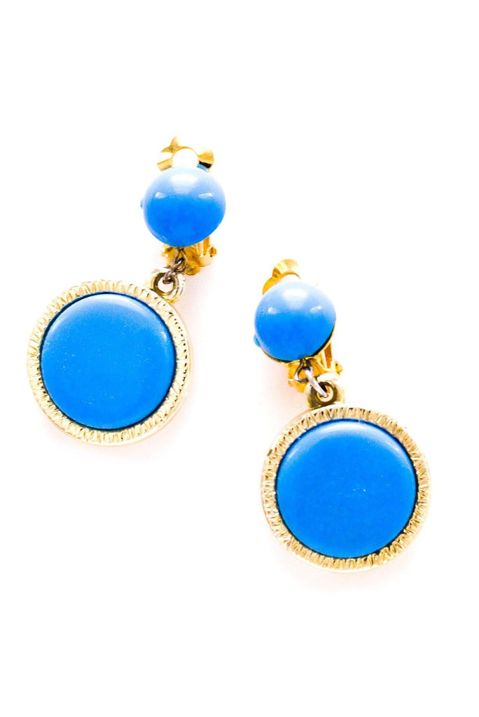 Blue Drop Clip-on Earrings