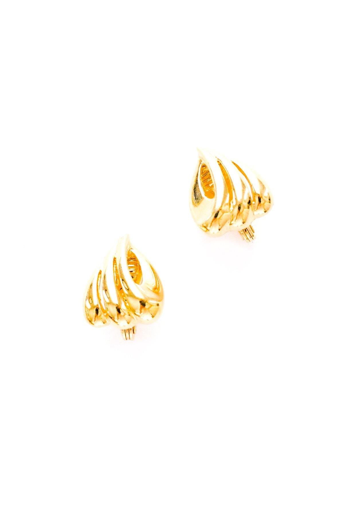Swirled Clip-on Earrings