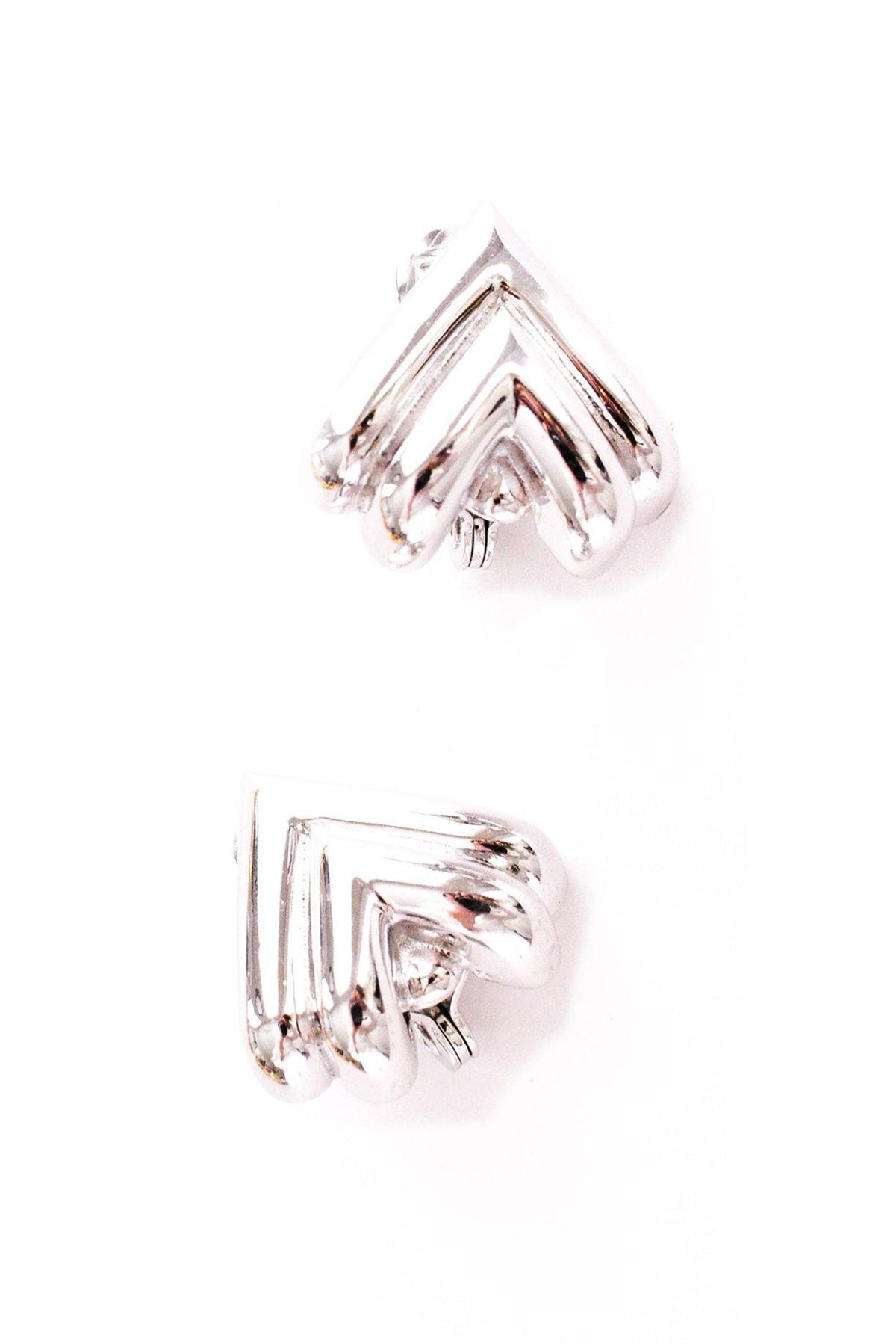 Vintage silver chunky triangle earrings from Sweet & Spark.