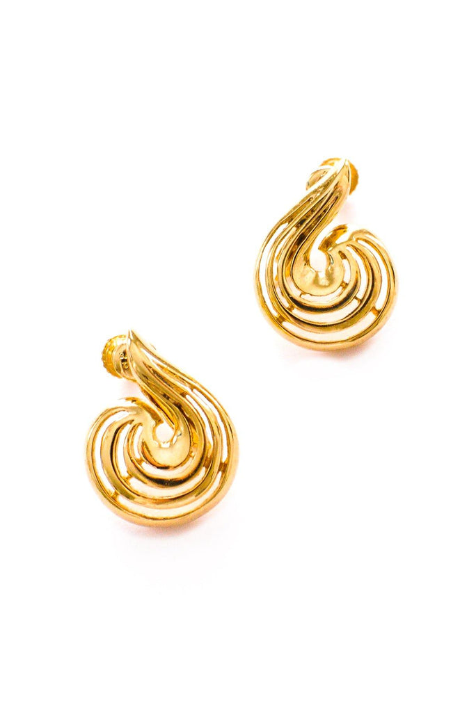 Gold Swirl Clip-on Earrings