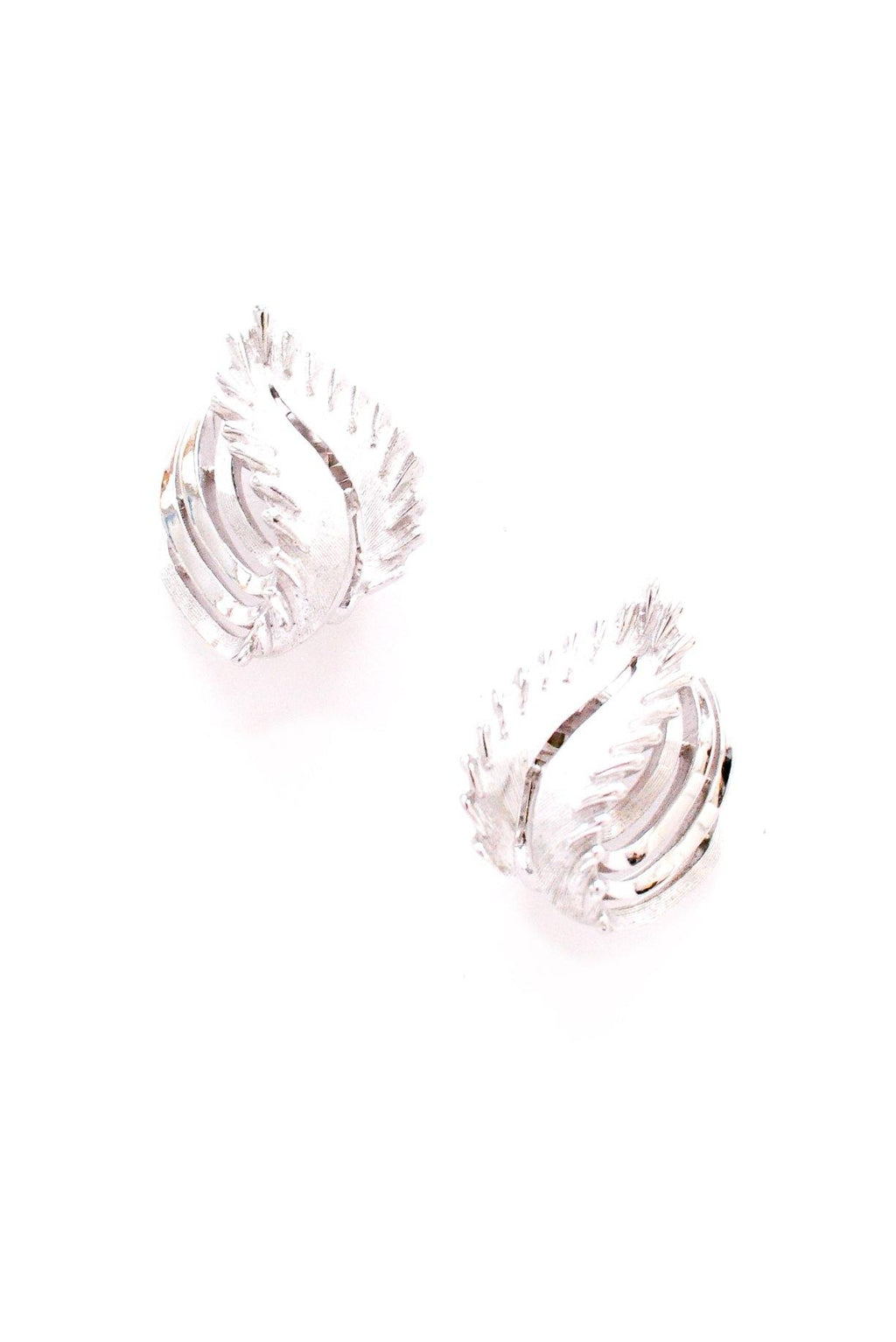 Silver Swirl Clip-on Earrings