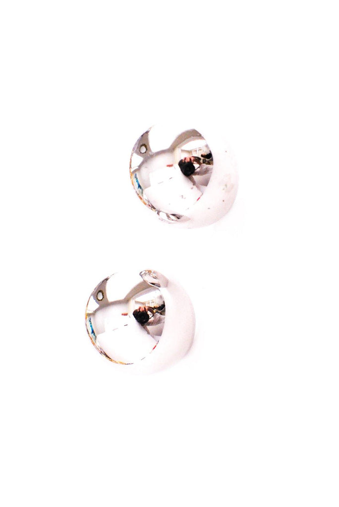 Silver Dome Clip-on Earrings