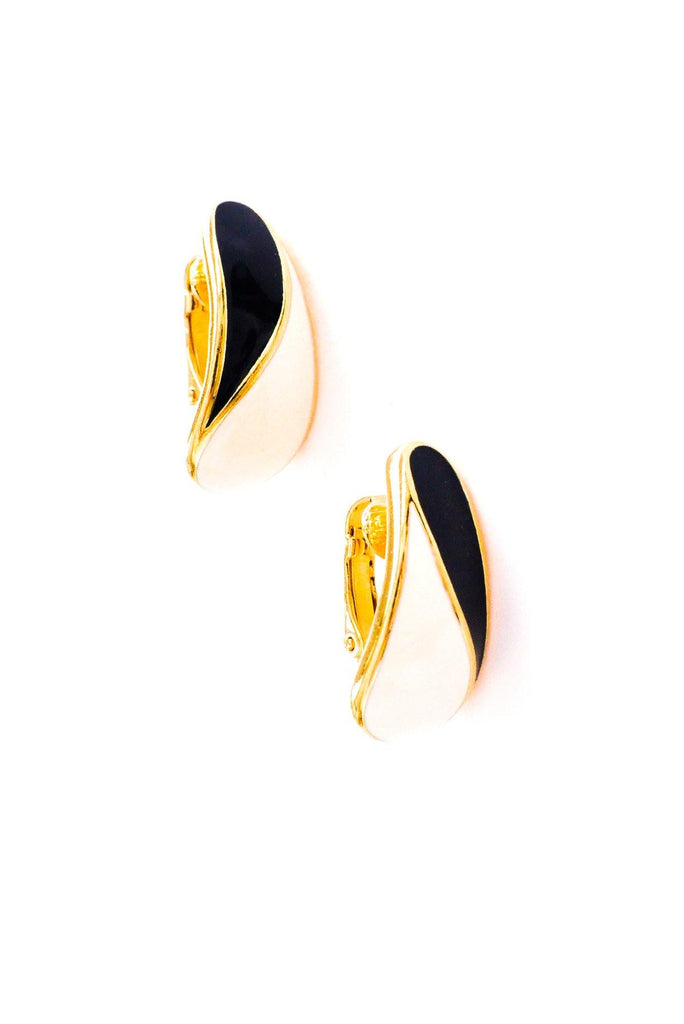 Nautical Enamel Clip-on Earrings