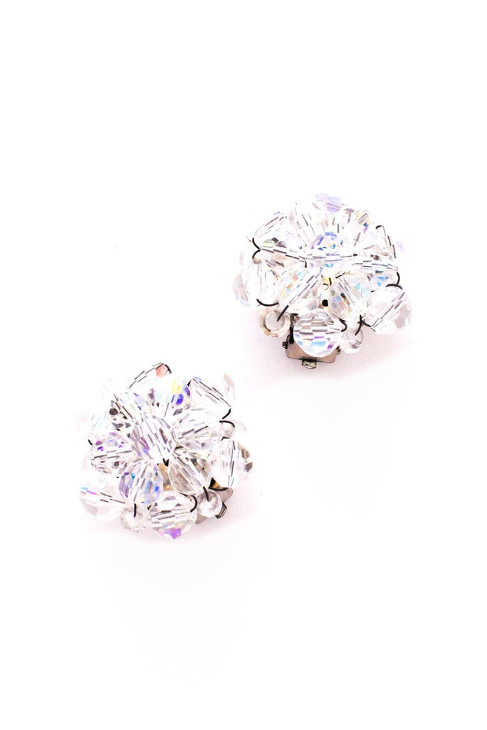 AB Crystal Burst Clip-on Earrings
