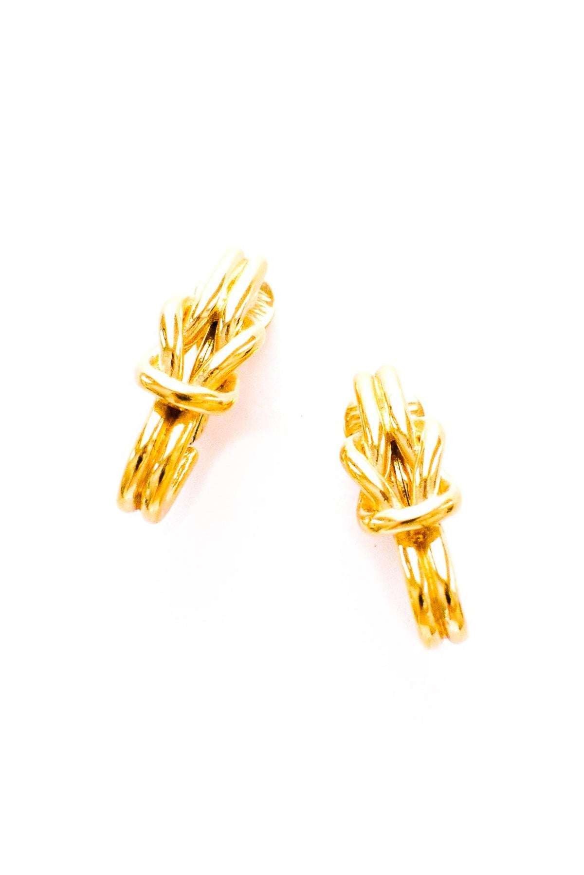 Vintage gold knot earrings from Sweet & Spark.