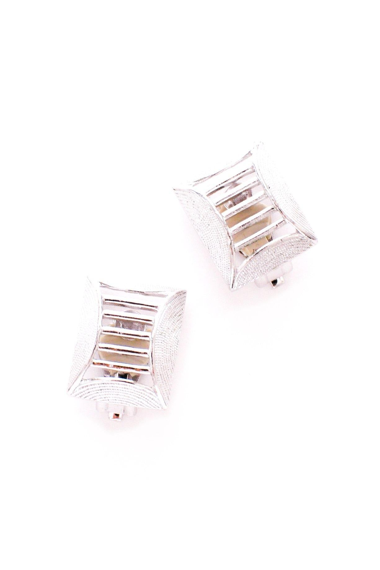 Silver Ladder Clip-on Earrings