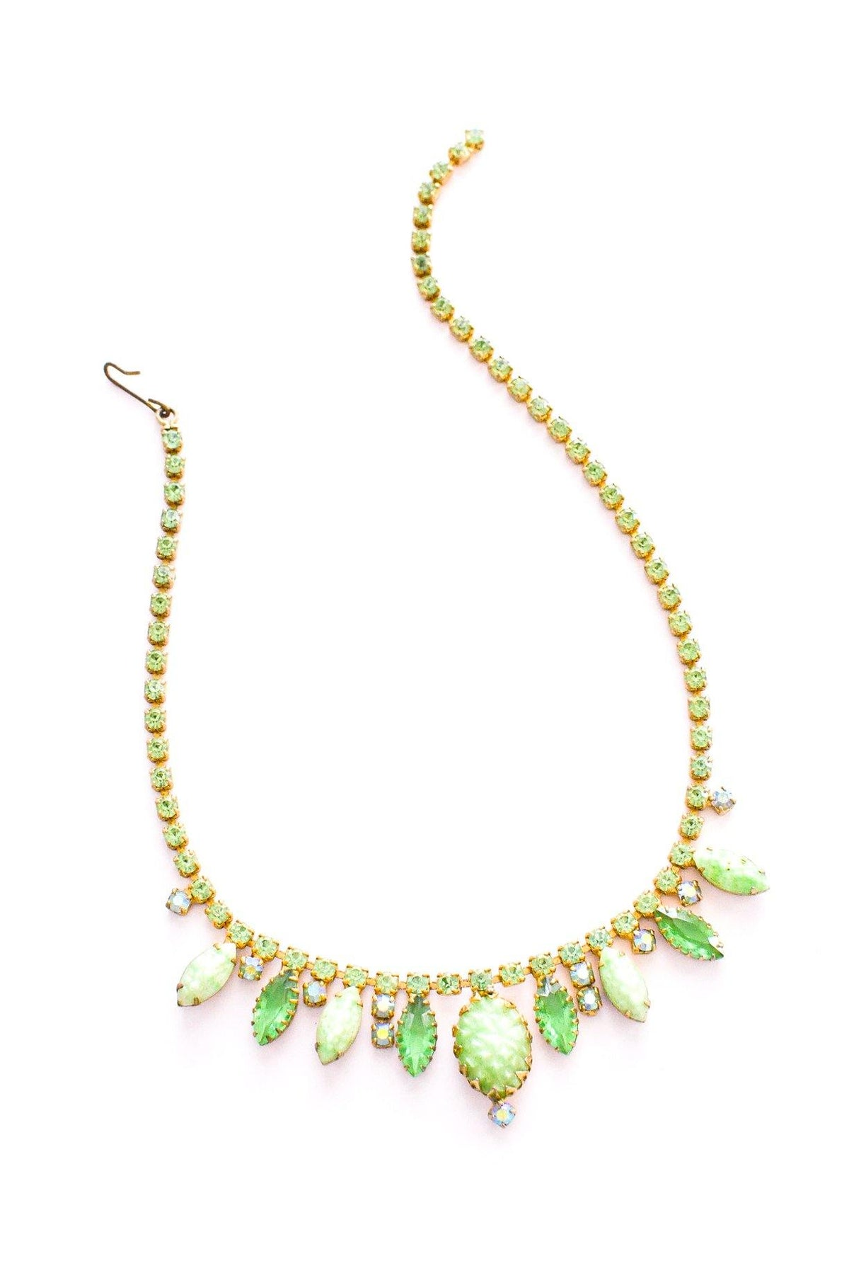 Vintage green rhinestone statement necklace from Sweet & Spark.