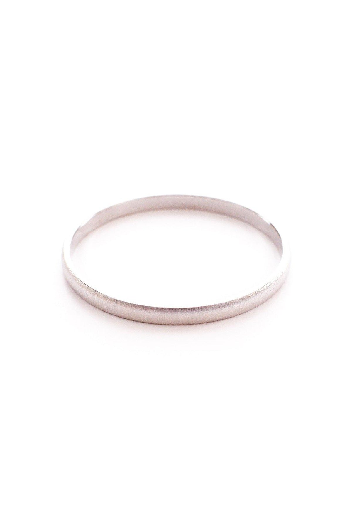 Skinny etched silver bangle bracelet from Sweet & Spark.