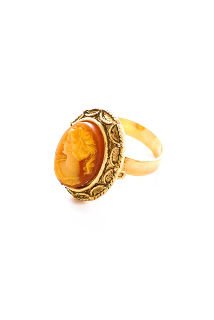 Adjustable Cameo Cocktail Ring