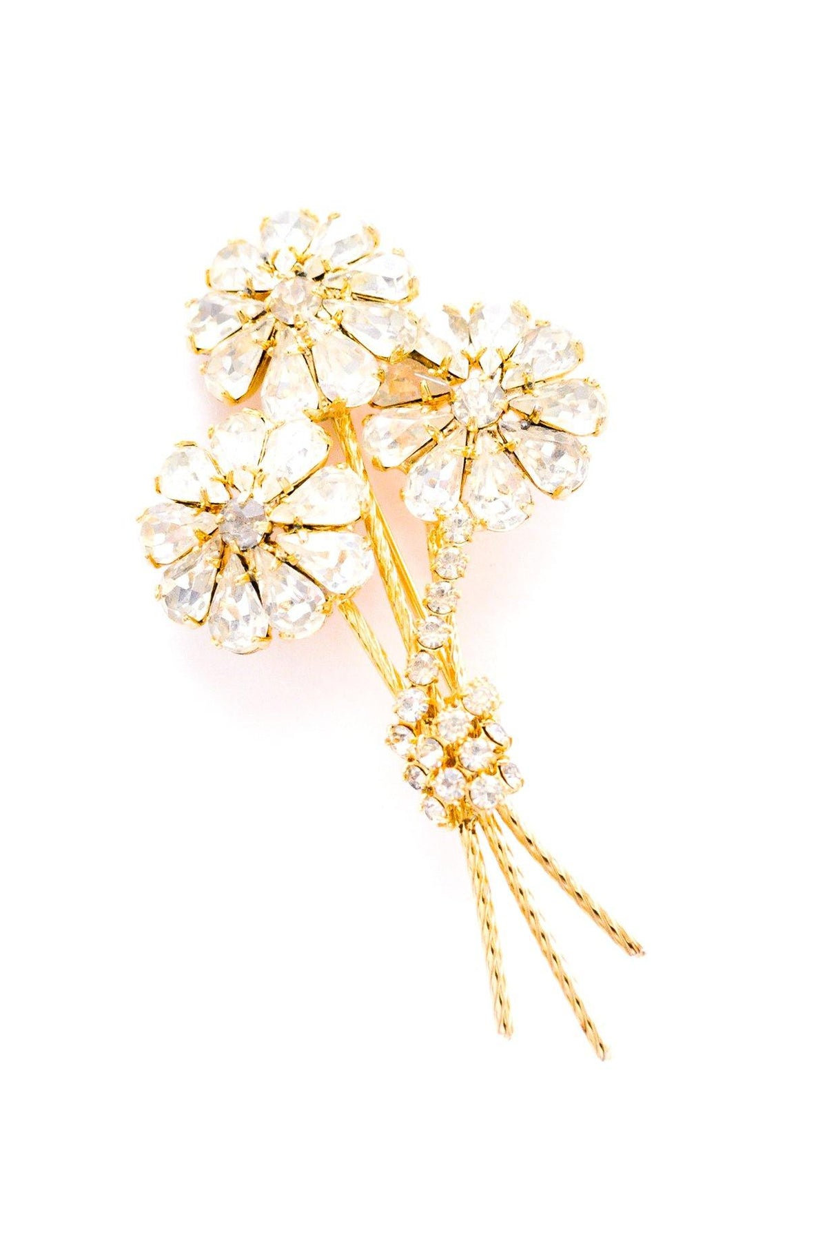 Vintage rhinestone stem brooch from Sweet & Spark.