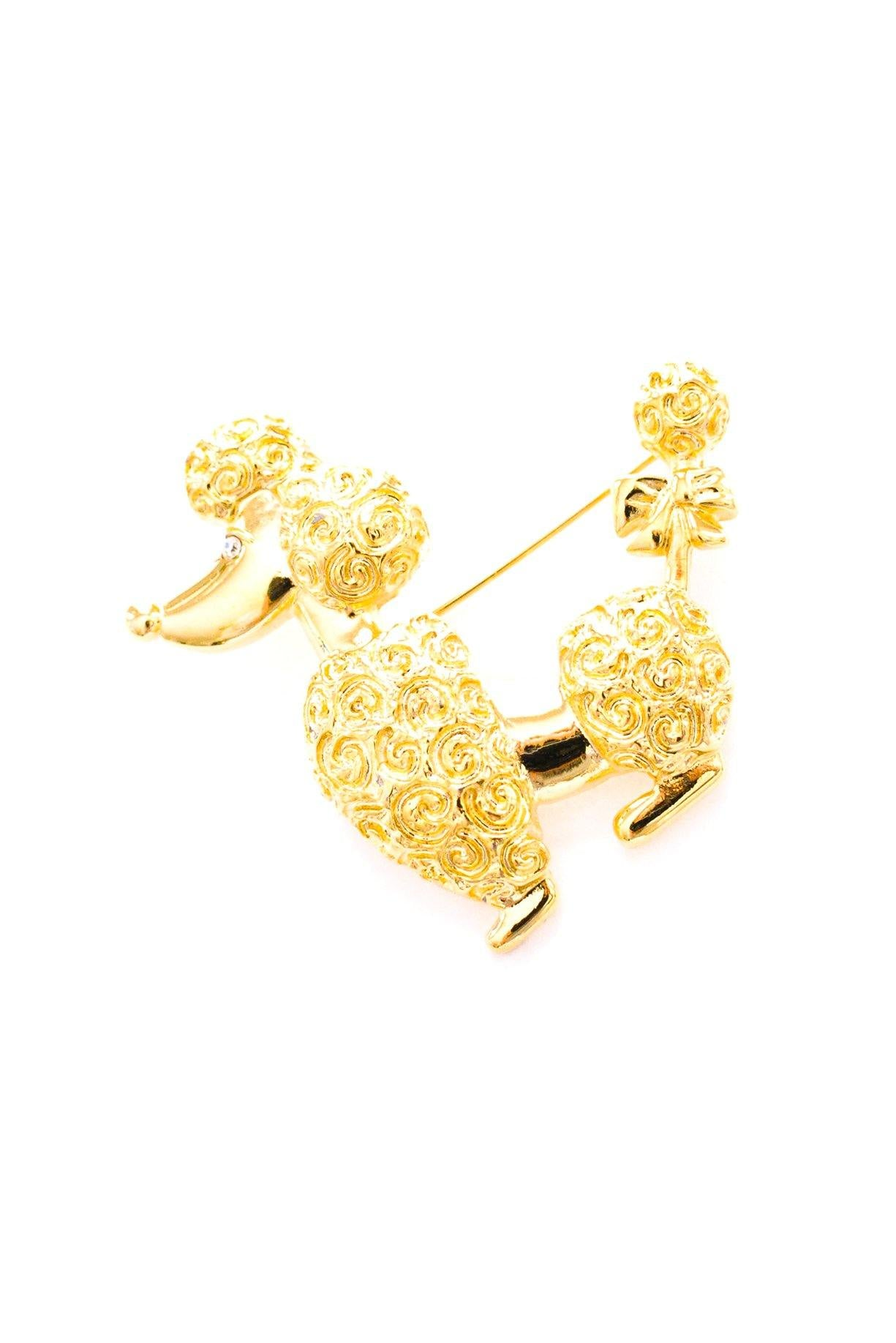 Vintage Anne Klein Poodle Dog Brooch from Sweet & Spark.