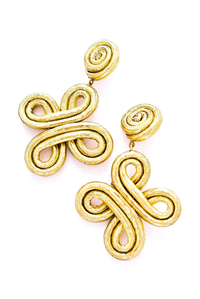 Twisted Rope Pierced Earrings