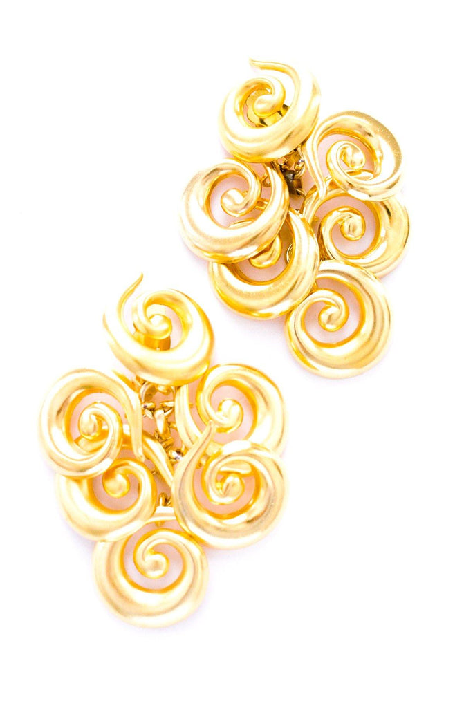 Swirled Statement Clip-on Earrings