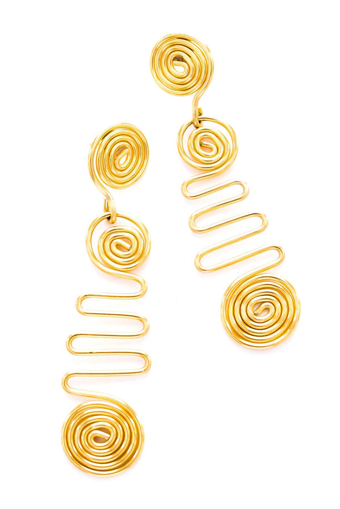 Twisted Swirl Pierced Earrings