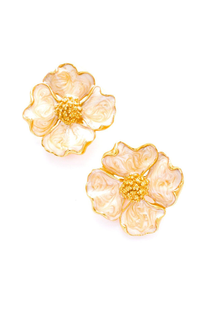 Oversized Floral Clip-on Earrings