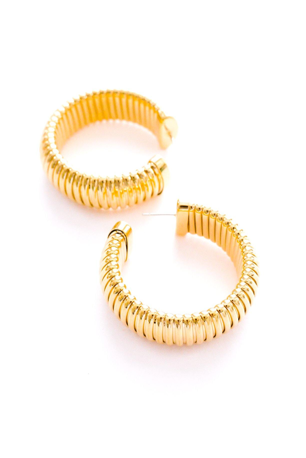 Chunky Gold Hoop Pierced Earrings