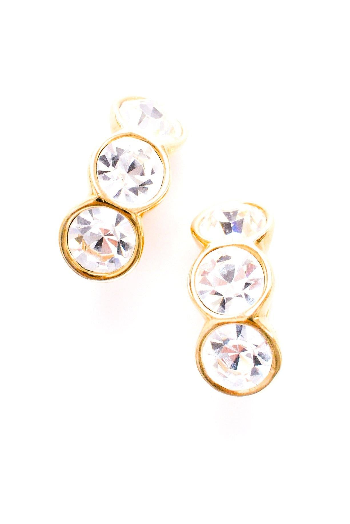 Rhinestone Crawler Clip-on Earrings