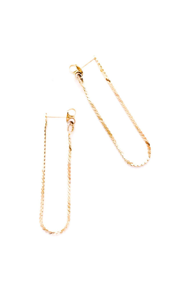 Dainty Chain Drop Pierced Earrings