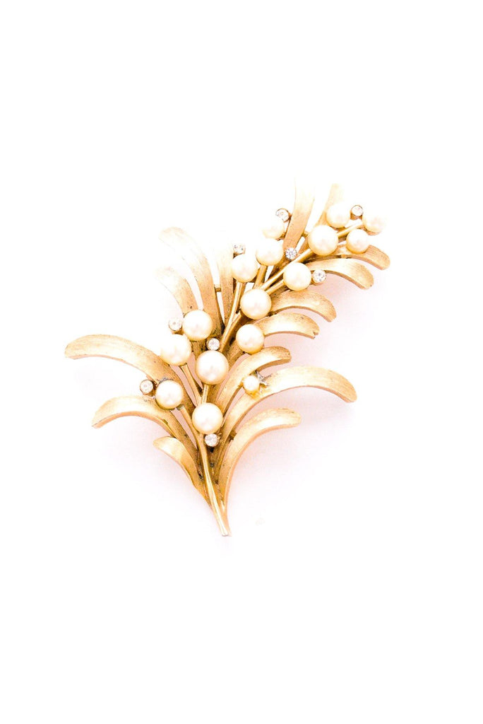 Pearl Branch Spray Brooch