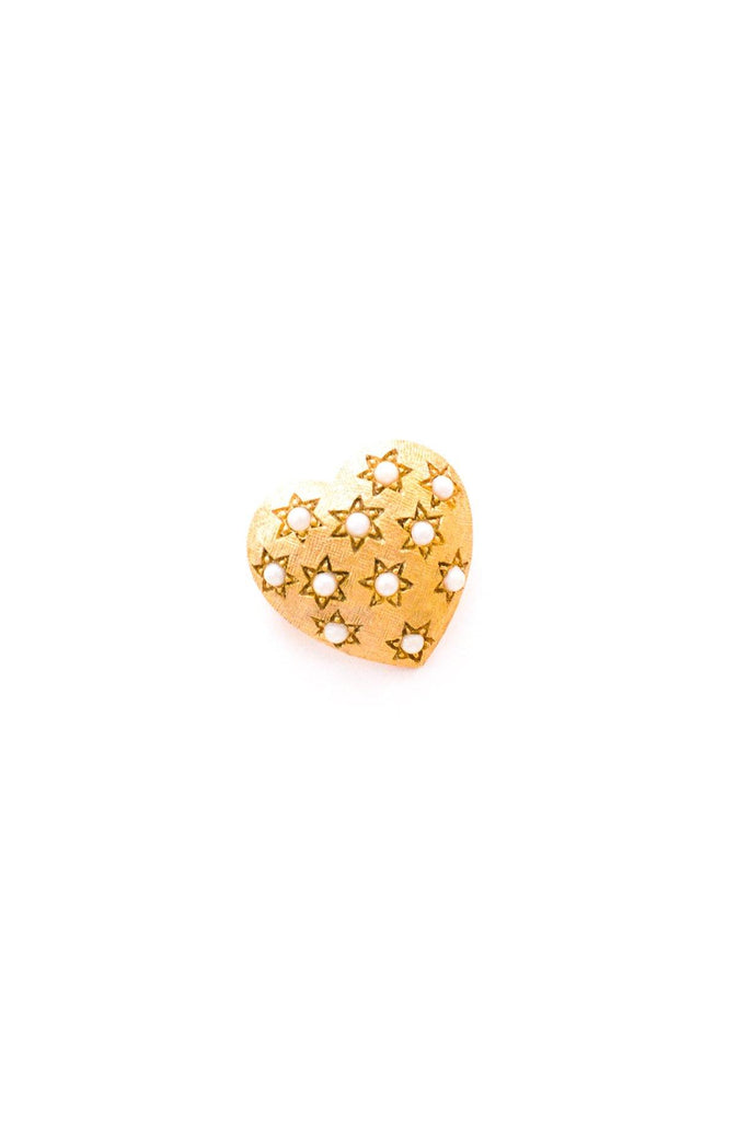 Mini Pearl Heart Brooch