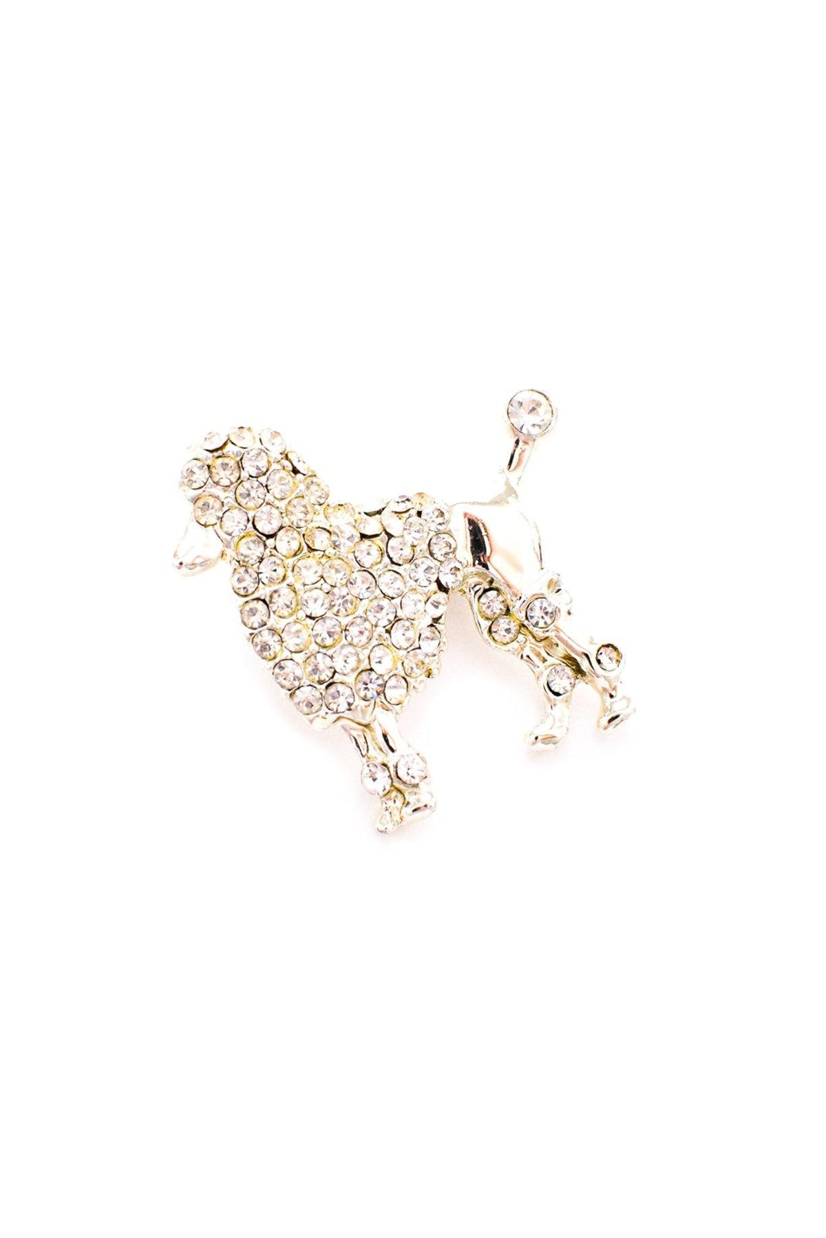 Vintage rhinestone mini poodle pin from Sweet & Spark.