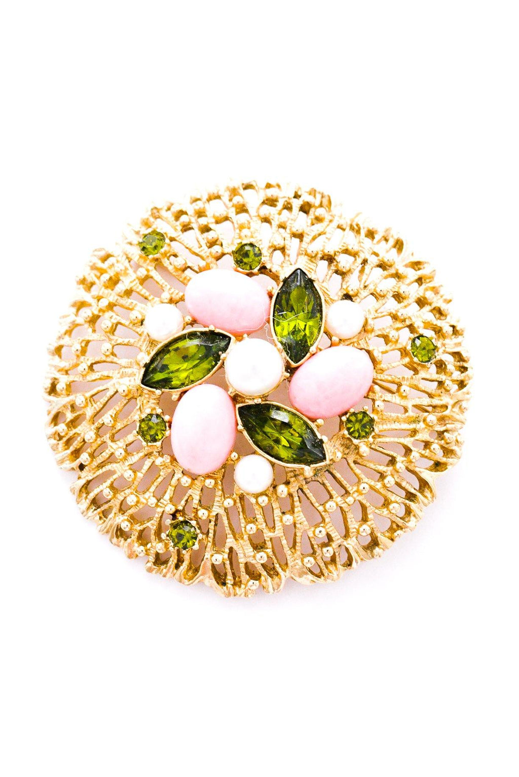 Statement Pearl Cluster Brooch