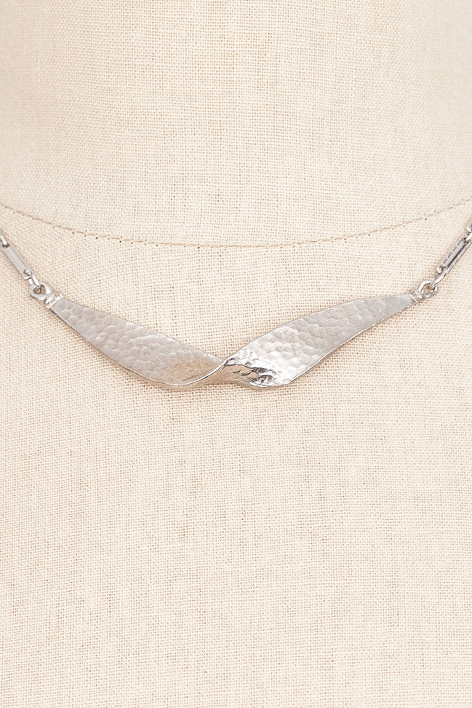 70's__Vintage__Silver Bar Necklace