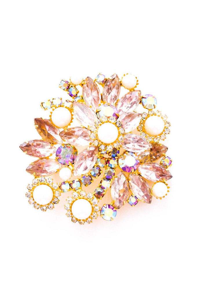Pearl & Rhinestone Statement Brooch