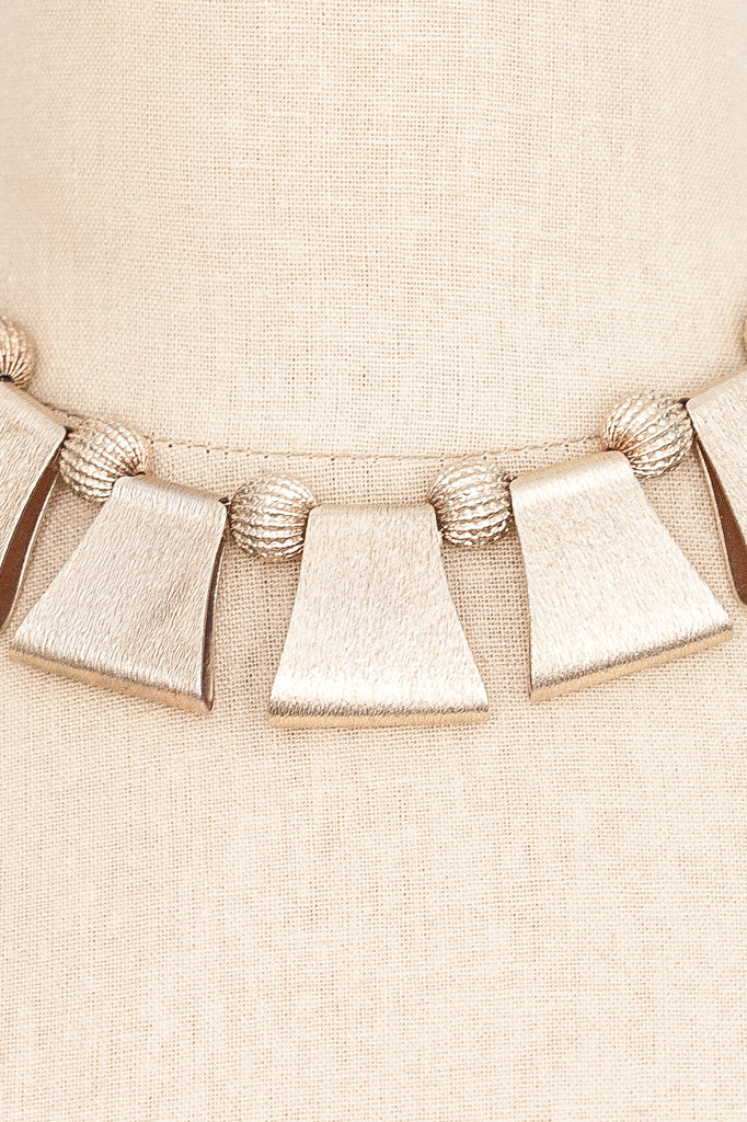 60's__Barclay__Chunky Geo Necklace