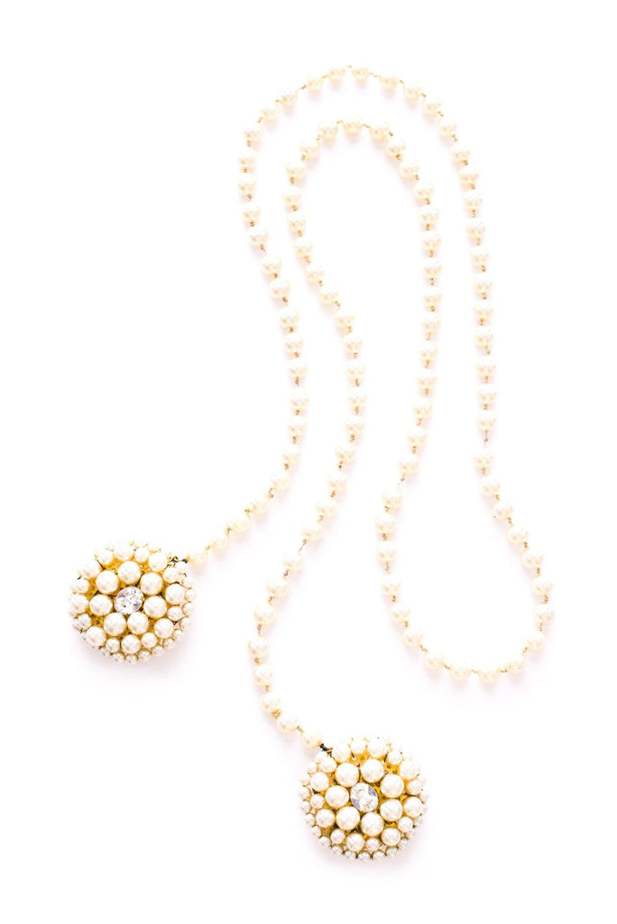 Pearl Lariat Statement Necklace