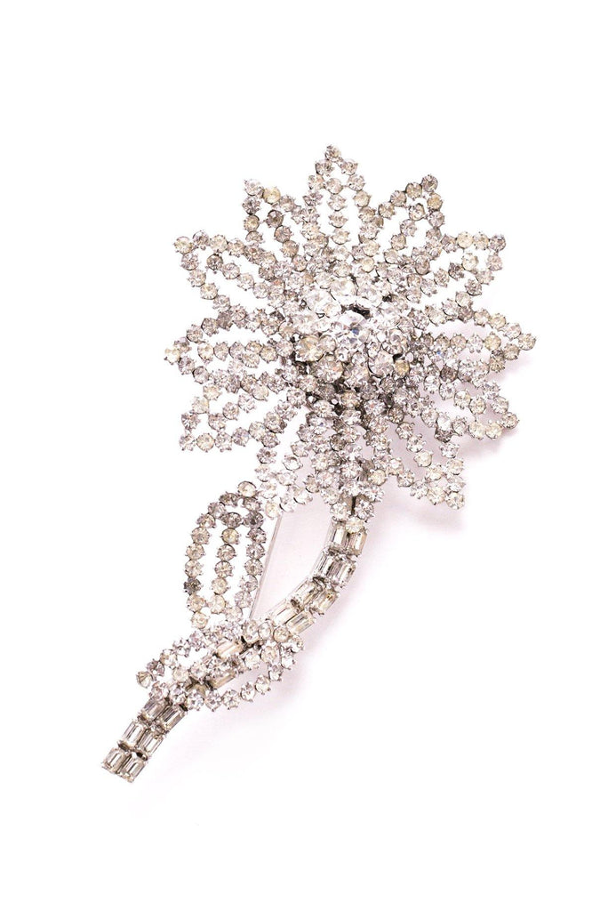 Rhinestone Statement Stem Brooch