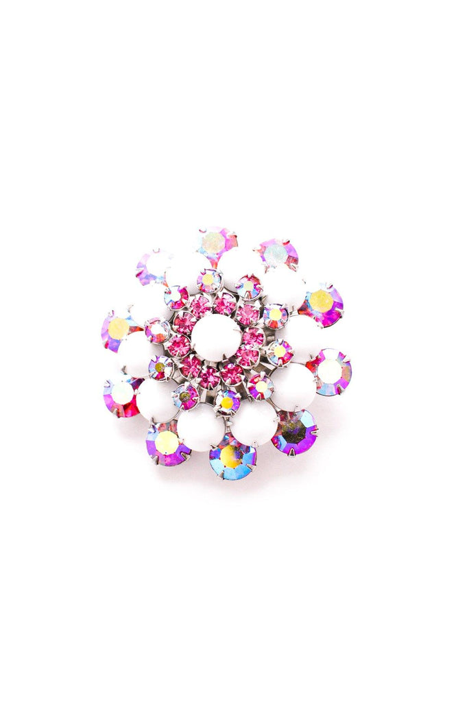 Pink and White Burst Brooch