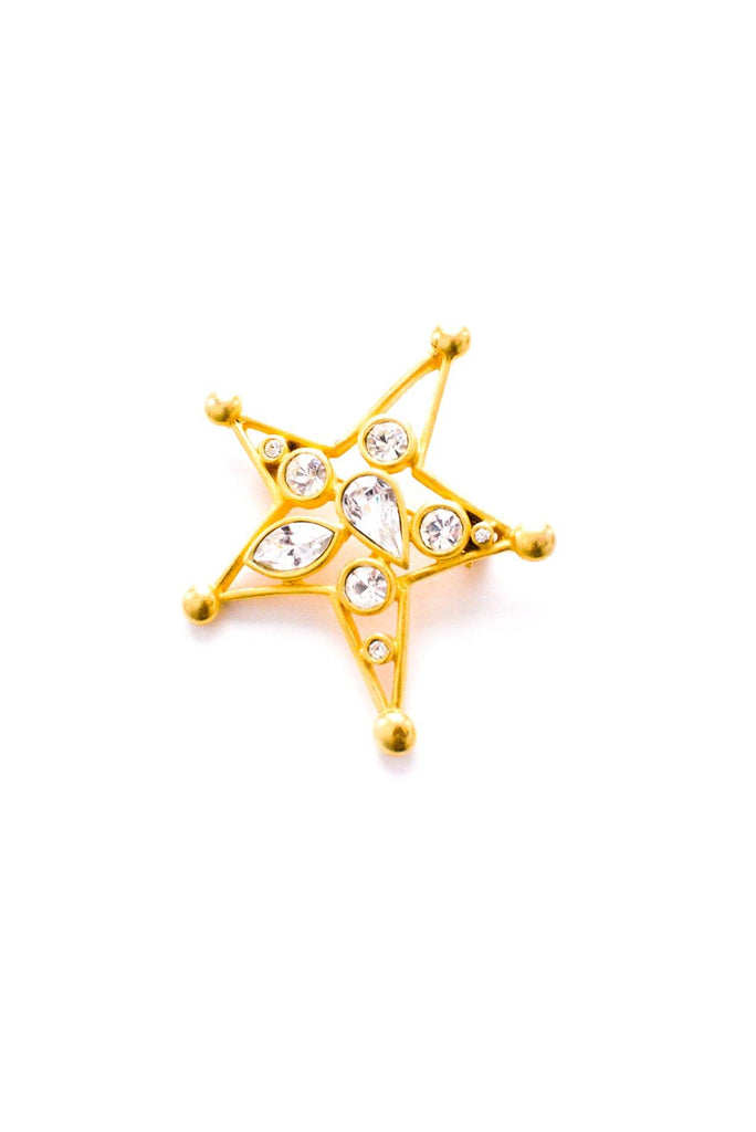 Rhinestone Star Brooch