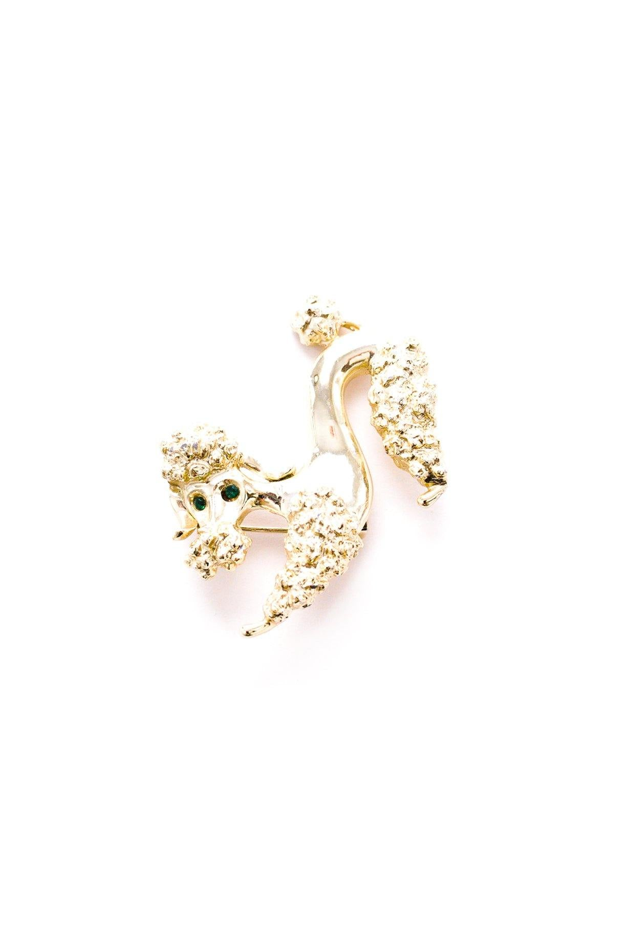 Vintage Gerry's Gold Poodle Brooch from Sweet & Spark