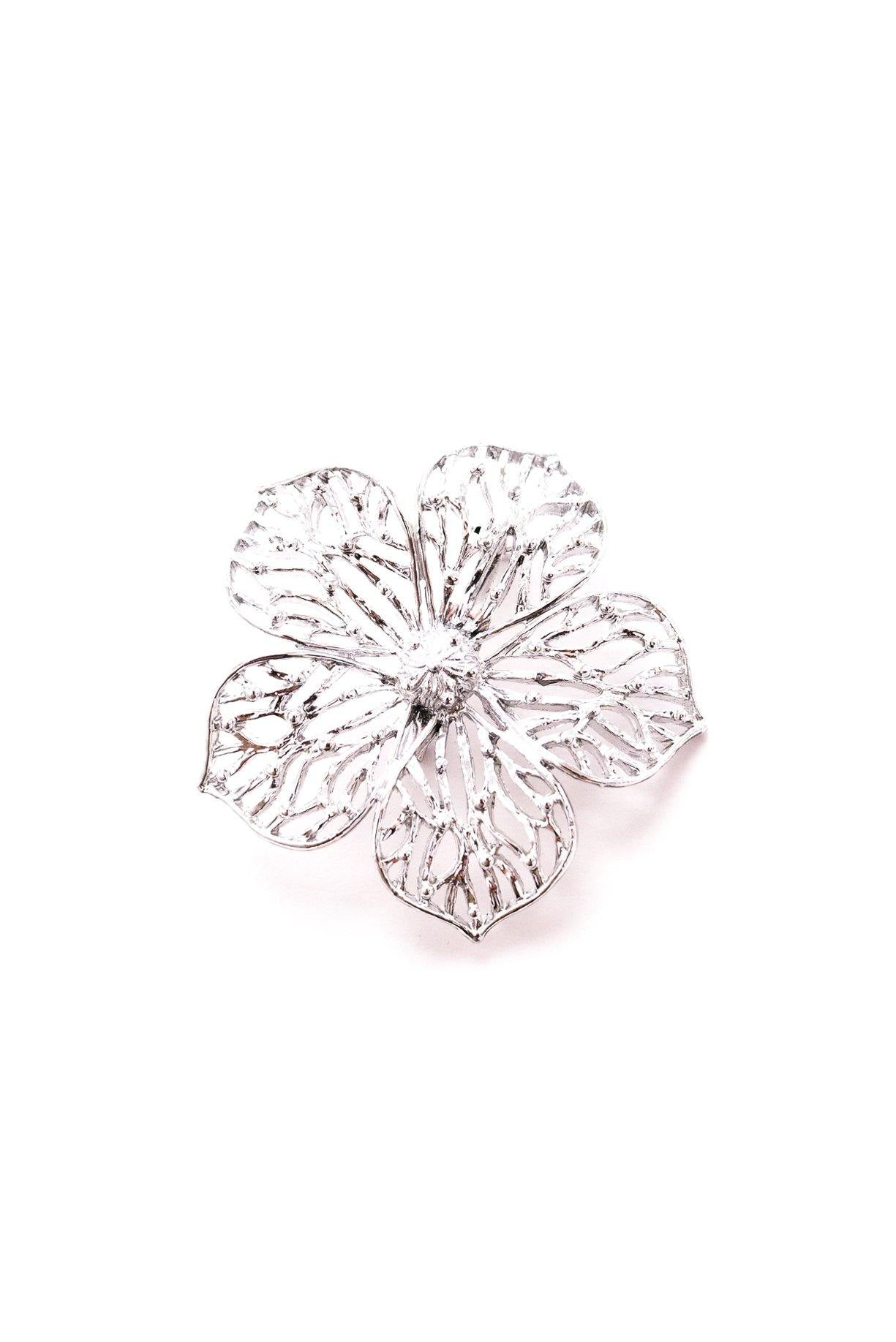 Vintage Gerry's Silver Floral Brooch from Sweet & Spark