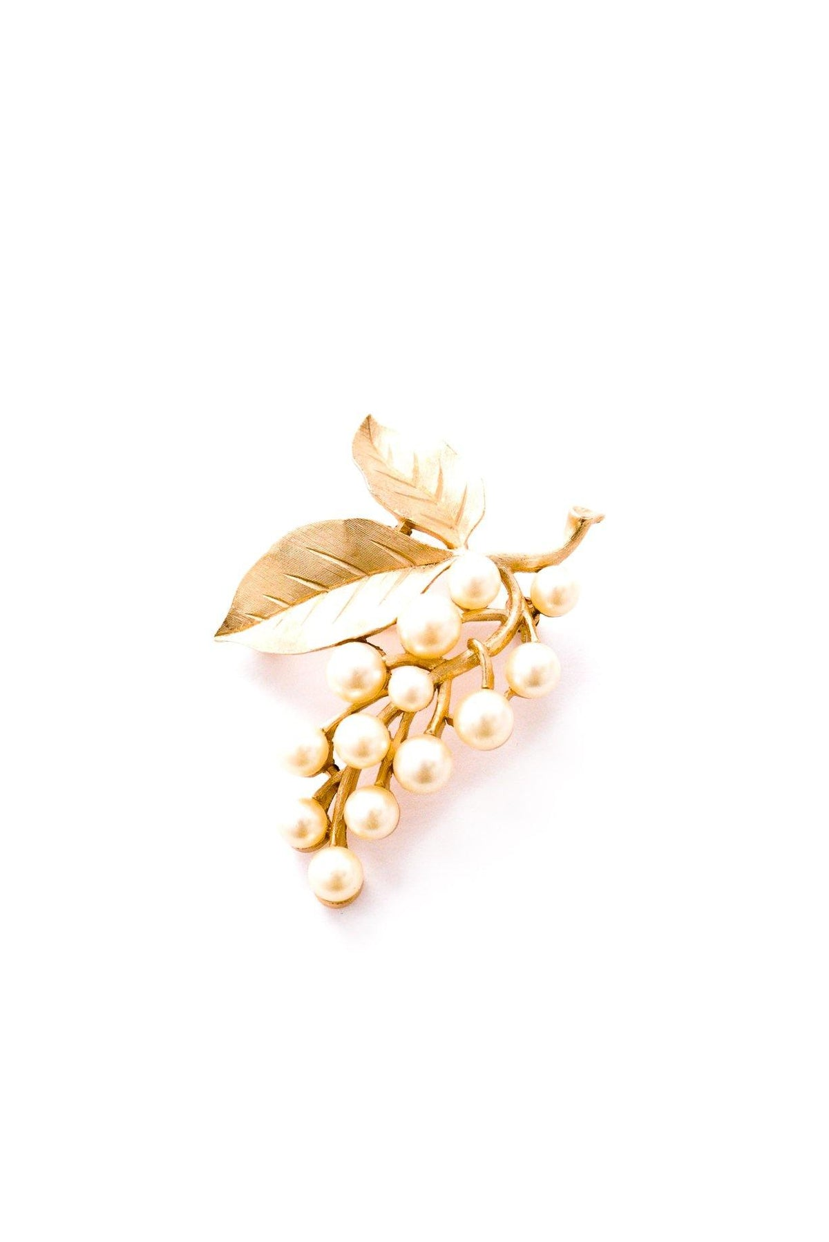 Vintage Gold Pearl Branch Brooch from Sweet & Spark