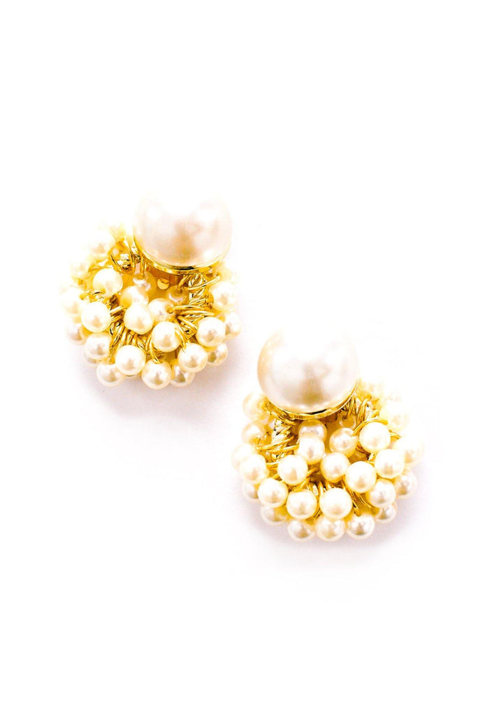Pearl Statement Clip-On Earrings