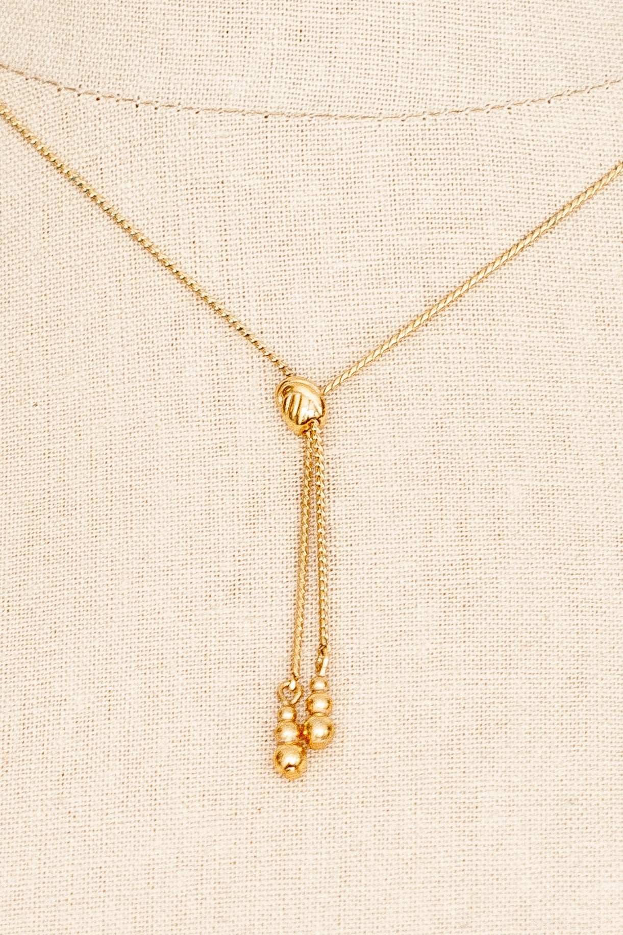 70's__Monet__Dainty Lariat Necklace