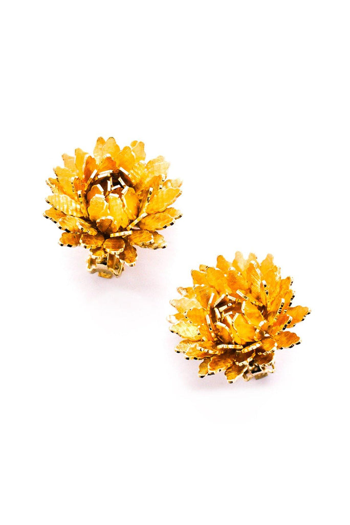 Floral Statement Clip-On Earrings