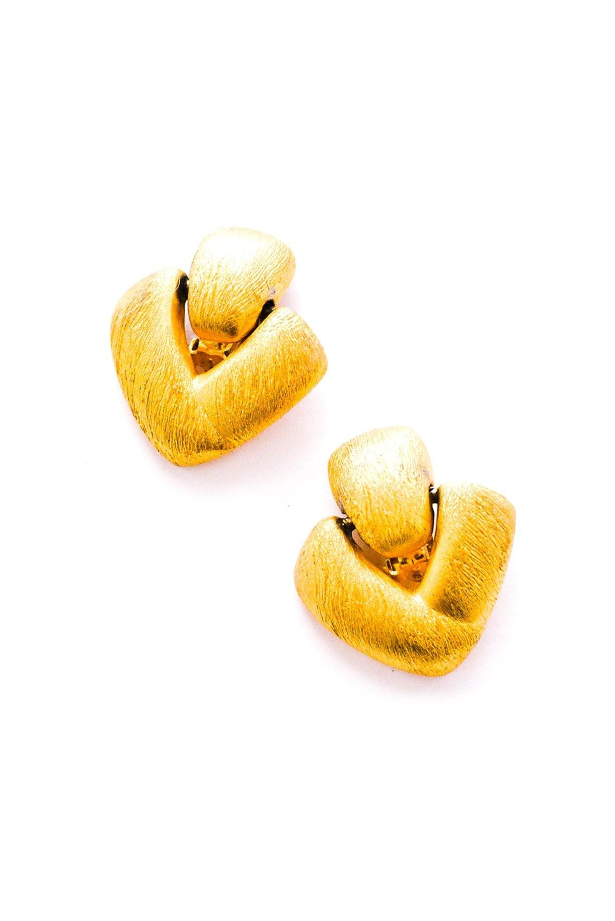 Vintage Anne Klein Door Knocker Clip-On Earrings from Sweet & Spark