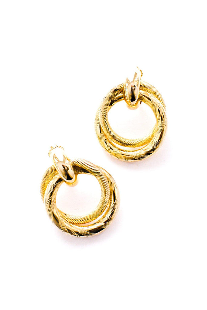 Linked Hoop Clip-On Earrings